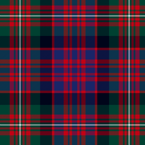 MacDonell of Glengarry red tartan fabric by weavingmajor on Spoonflower - custom fabric