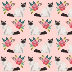 birman cat floral fabric cute floral cats fabric cute cats design best cats fabric