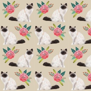 birman cat florals cute cat design best birman cat seal point birman fabric cute cats fabric lovely florals fabric