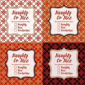 Naughty or Nice Gift Tag Sticker