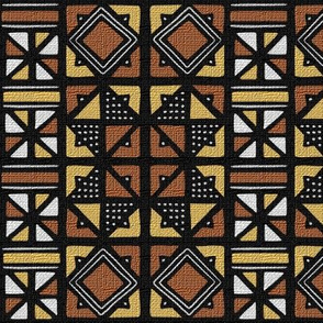 Mudcloth Inspired Stars and Pinwheels_2