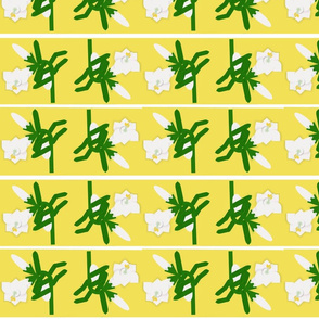 Easter Lily Border-ed