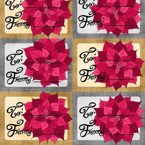 Poinsettia Gift Tags