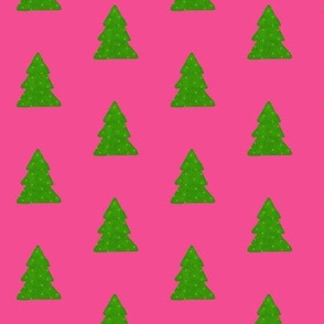Trees on Pink - small print