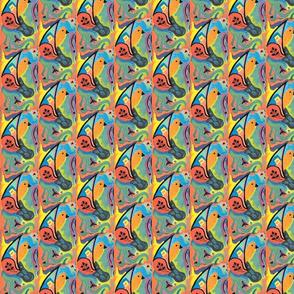 oiseau timide