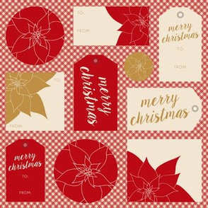 Poinsettias & Plaid: Gift Tags