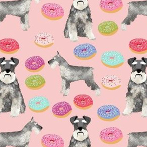 schnauzers donuts fabric cute donuts fabric schnauzers dog fabric cute dog