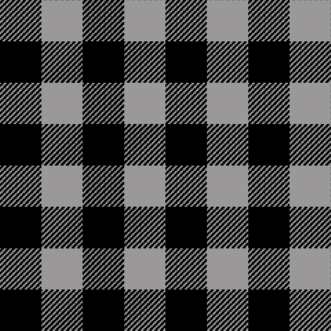 buffalo plaid black and red kids cute nursery hunting outdoors camping gray and black plaid checks grey and black buffalo plaid buffalo check fabric by charlottewinter on Spoonflower - custom fabric