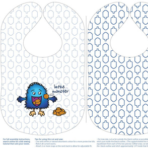 Latke Monster Hannukah Bib Cut-and-Sew
