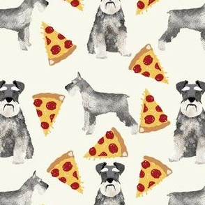 schnauer pizza fabric cute pizza design schnauzers dogs fabric dog fabric pizzas