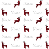personalized name fabric buffalo plaid names cute text name fabric personalised fabric