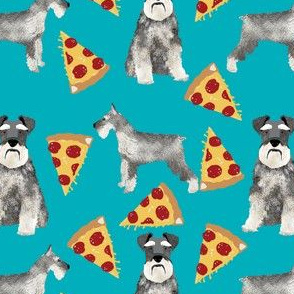 schnauer pizza fabric cute pizza design schnauzers dogs fabric dog fabric pizzas