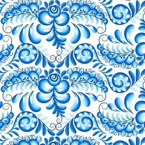 Gzhel swirls