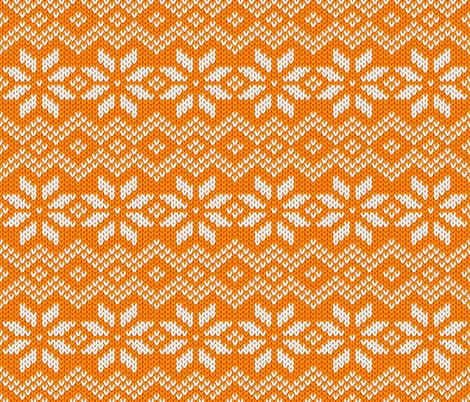 Orange knit fabric by art_of_sun on Spoonflower - custom fabric