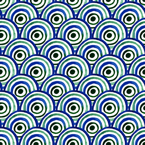 Watercolor circle fabric by magic_pencil on Spoonflower - custom fabric