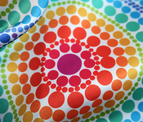 Rainbow dotted circles
