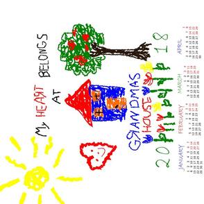 Grandmas House 2018 calendar