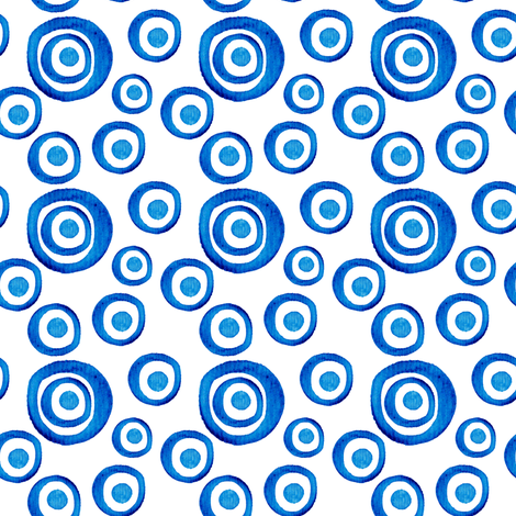 Blue circles fabric by magic_pencil on Spoonflower - custom fabric