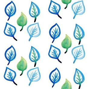 leaves in watercolour