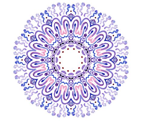 Mandala purple fabric by magic_pencil on Spoonflower - custom fabric