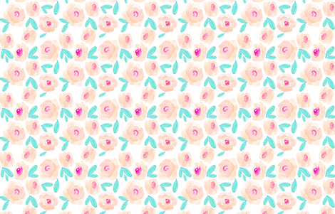 Indy Bloom Design  Orange Blossom fabric by indybloomdesign on Spoonflower - custom fabric
