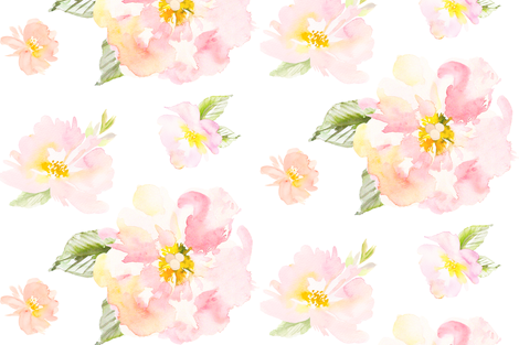 Anya's Floral Watercolor fabric by color_and_scheme on Spoonflower - custom fabric