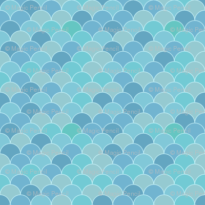 Fish scale in blue