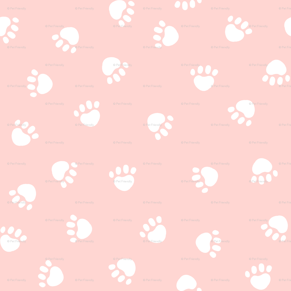 Dog Paws Print Pink Dogs Fabric Cute Paw Prints Fabrics Wallpaper