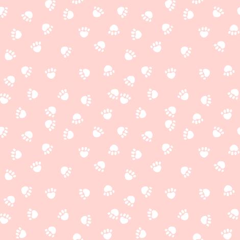 dog paws print pink dogs fabric cute dog fabric paw prints