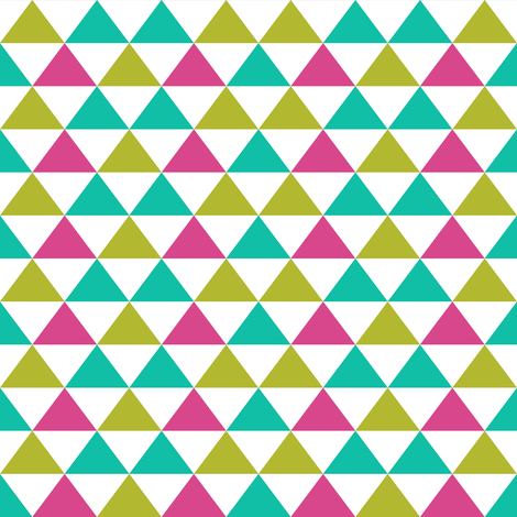 bright triangles fabric by amyjeanne_wpg on Spoonflower - custom fabric