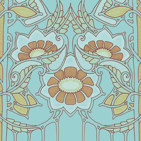 Minuet in Blue II fabric by edsel2084 on Spoonflower - custom fabric