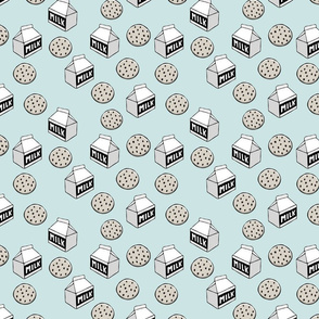 milk boxes & cookies (aviary blue)