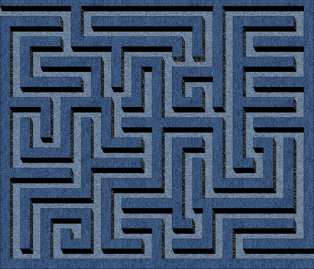 Denim maze cheater quilt fabric by sixsleekswans on Spoonflower - custom fabric