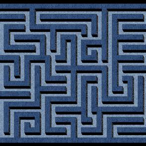 Denim maze cheater quilt