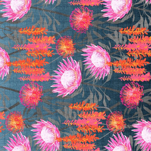 South Bound Bride Protea Tea Towel Two
