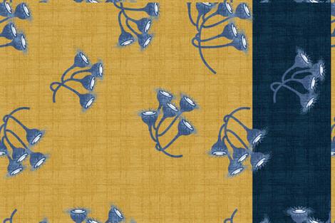 Gum Nuts on Mustard Tea Towel fabric by abbieuproot on Spoonflower - custom fabric