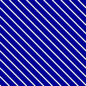 White on Navy Diagonal Stripes - Rin Stage of Magic
