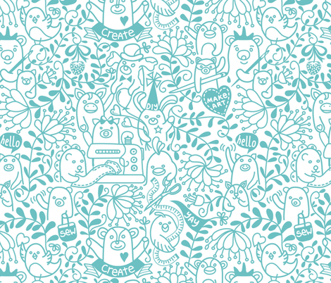 Spoonflower Makers Make!  fabric by vo_aka_virginiao on Spoonflower - custom fabric