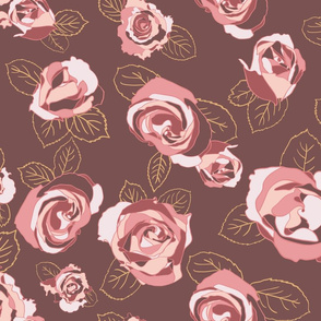 Roses Seamless Repeating Pattern