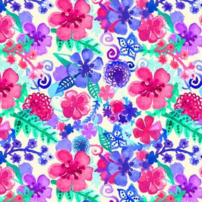 Fresh Watercolor Floral Pattern