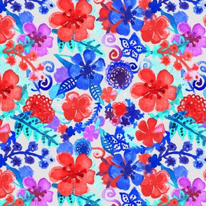 Fresh Watercolor Floral Pattern II