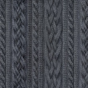 Charcoal Cable Knit