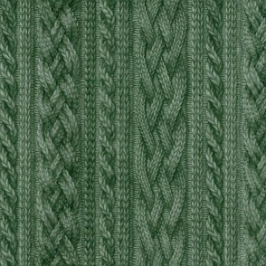 Pine Green Cable Knit