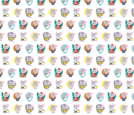 Elephants for kids fabric stofftoy spoonflower for Childrens elephant fabric
