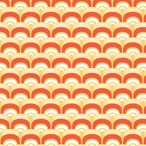 Scales in orange and yellow fabric by lburleighdesigns on Spoonflower - custom fabric