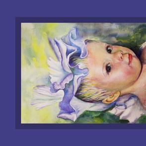 Iris Princess , stretch and frame as 16 x 20