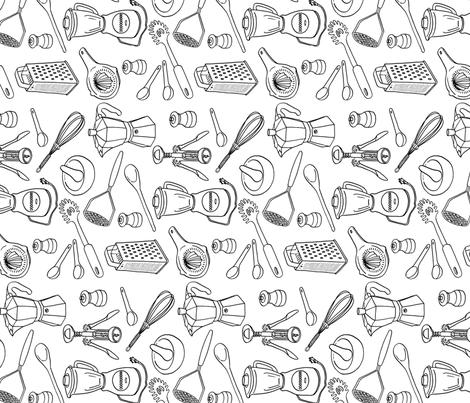 kitchen fabric by alisonkolesar on Spoonflower - custom fabric