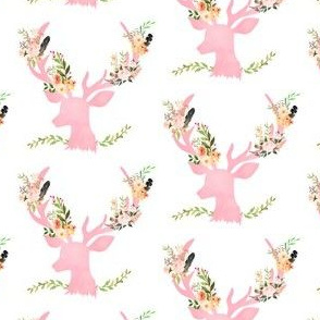 """Pink Floral Deer 2.5"""""""