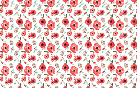 INDY BLOOM DESIGN CHRISTMAS BLOSSOM fabric by indybloomdesign on Spoonflower - custom fabric