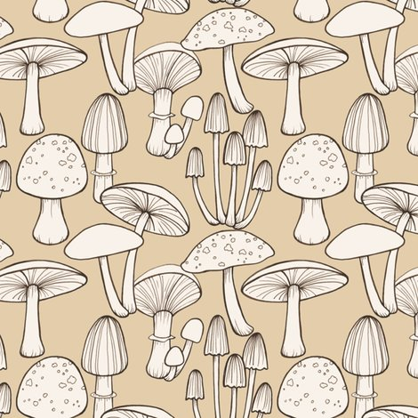 Rmushrooms_line_drawing_taupe_150_hazel_fisher_creations_shop_preview